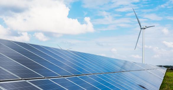 Wind turbine and solar array